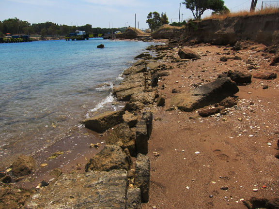 Fig. 2. The damaged remains of the diolkos today, sectors C–E.