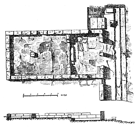 Fig. 18. Plan of the small temple at the southeast corner of Temple B (Marconi 1933, fig. 79).
