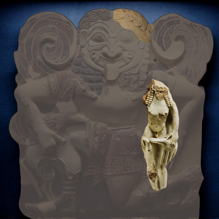Fig. 29. Reconstruction of the two terracotta fragments, now in Copenhagen.
