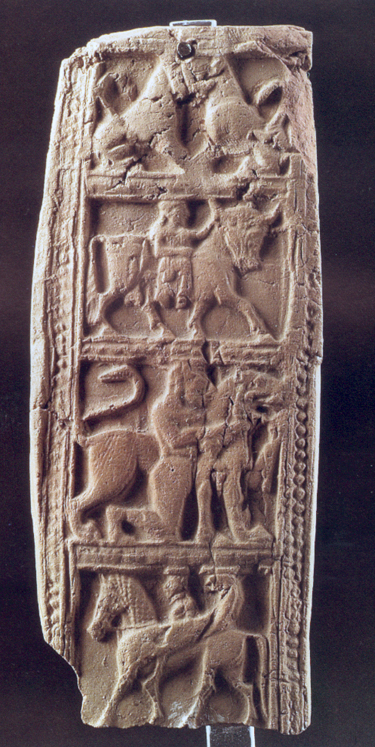 Fig. 32. Terracotta plaque with mythological scenes. Agrigento, Museo Archeologico Regionale, inv. no. AG 1269 (De Miro 2000, pl. 47).