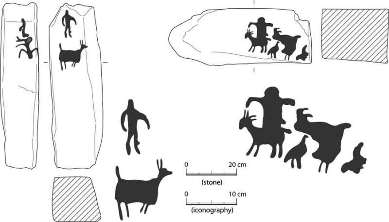 Fig. 62. Petroglyphs from Wadi Ghuweir 17 in the Jafr Basin (courtesy S. Fujii).