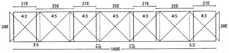 Fig. 2. Layout of the seven units of the Tiryns dado (after Moser v. Filseck 1986, fig. 9).