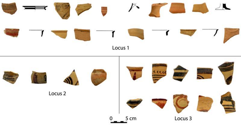 Fig. 2. Finds from the platform of Megaron B.