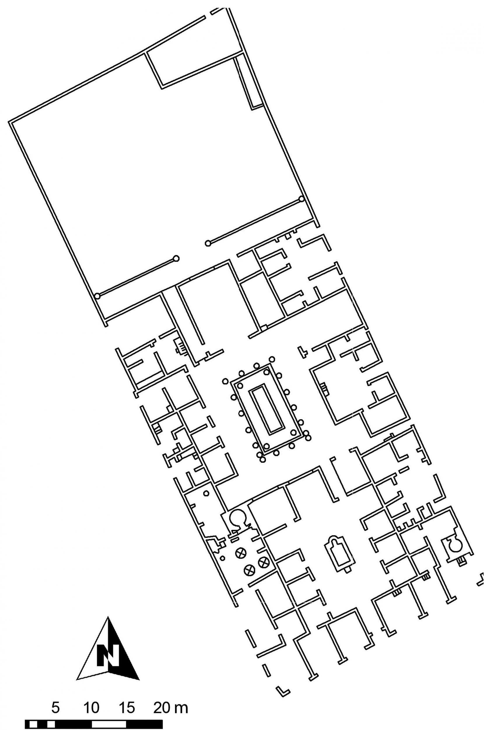 Fig. 2. Plan of Casa di Pansa (VI.6.1), Pompeii (courtesy E. Poehler, Pompeii Bibliography and Mapping Project).