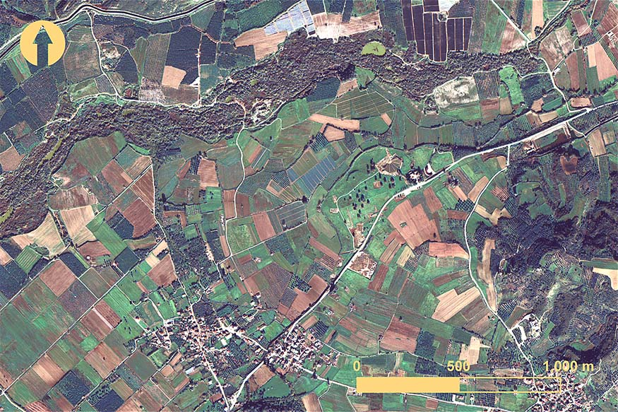 Fig. 13. Elis from a WorldView-2 image taken 13 December 2012 (© DigitalGlobe, Inc.; all rights reserved).