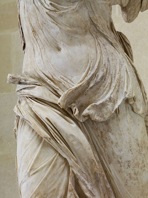 Fig. 2. The Nike of Samothrace after conservation and reinstallation in 2014, detail of the Nike (© Musée du Louvre, Dist. RMN-Grand Palais/Philippe Fuzeau/Art Resource, NY).