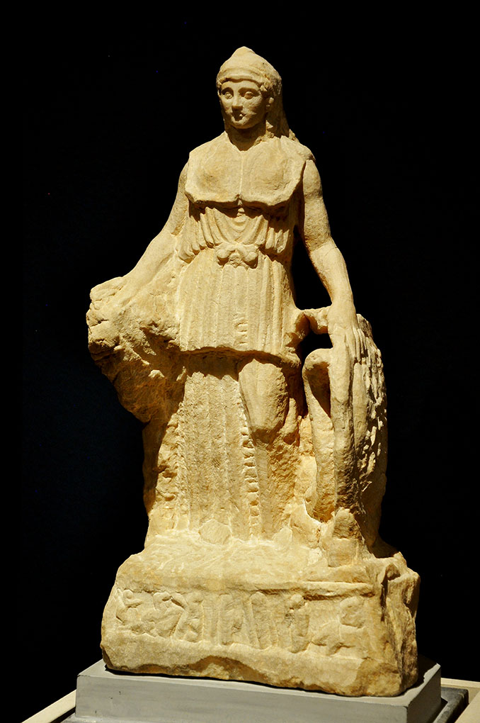 Fig. 1. The Lenormant Athena, unfinished, second/third century C.E. Athens, National  Museum, inv. no. 128.