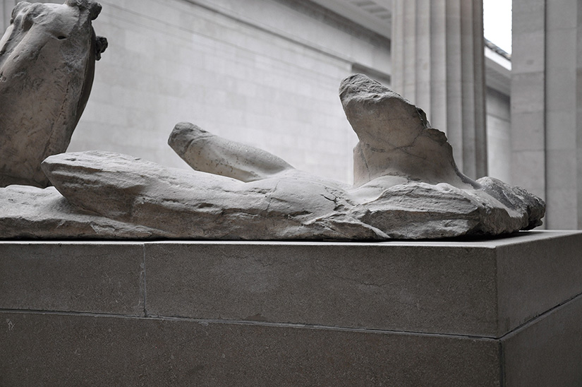 Fig. 10. Helios (east pediment A), left side. London, British Museum.