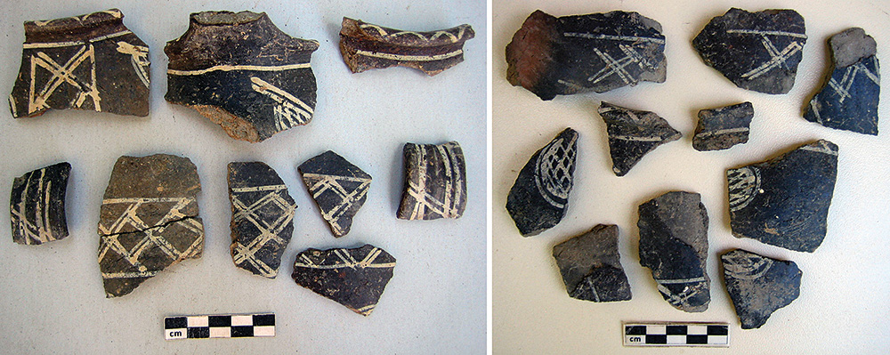 Fig. 4. Fragments of a globular cup from NSS-5, collected and photographed separately, from two pottery lots: HM24773 and HM24701.