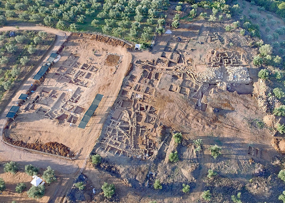 Fig. 3. Aerial view of the Iklaina site from the north.