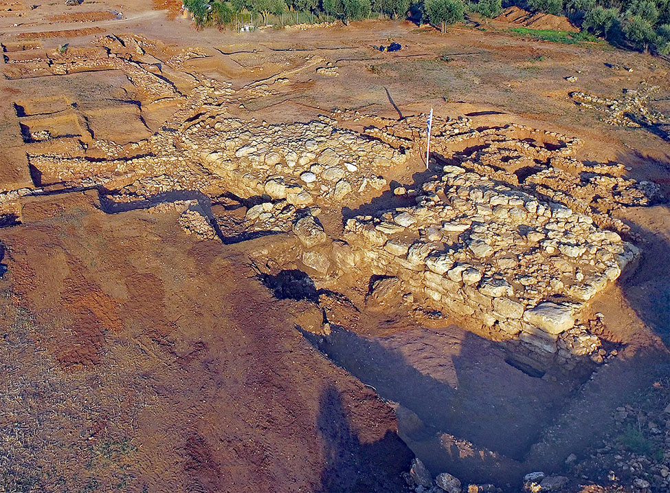 Fig. 7. Aerial view of the Cyclopean Platform from the northwest.