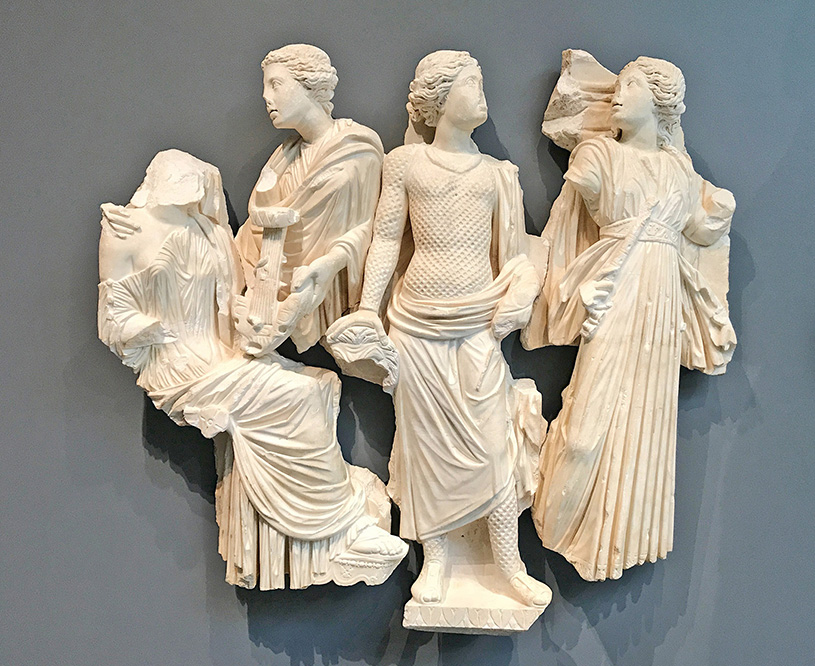Fig. 3. Four muses from a Muse sarcophagus (J. Paul Getty Museum, inv. nos. 72.AA.90.1–4).
