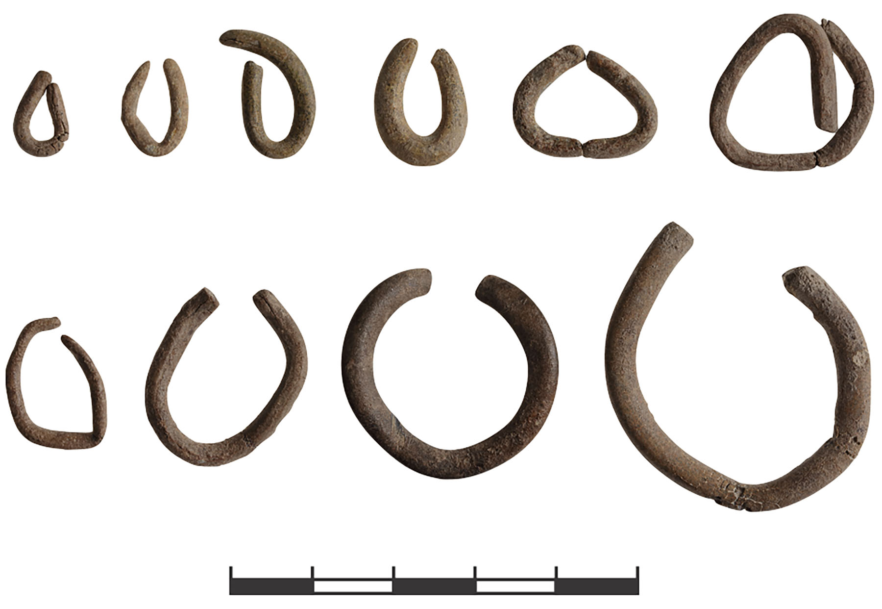 Fig. 13. A selection of lead rings from Kaymakçı (N. Gail; © Gygaia Projects).