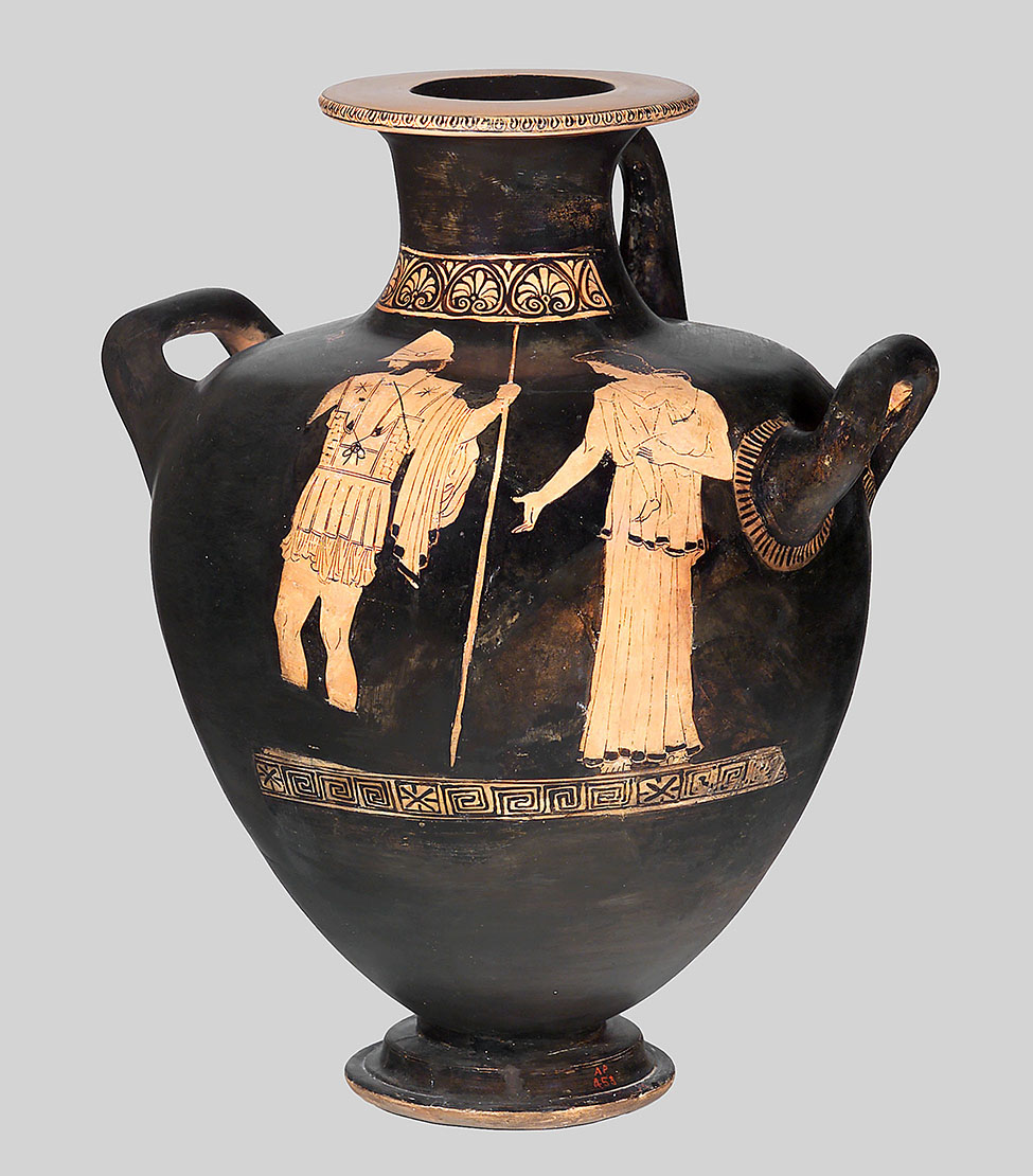 Fig. 2. Attic red-figure hydria attributed to the Dwarf Painter. Boston, Museum of Fine Arts, inv. no. 03.798; Frances Bartlett Donation of 1900 (photograph © 2019 Museum of Fine Arts, Boston).