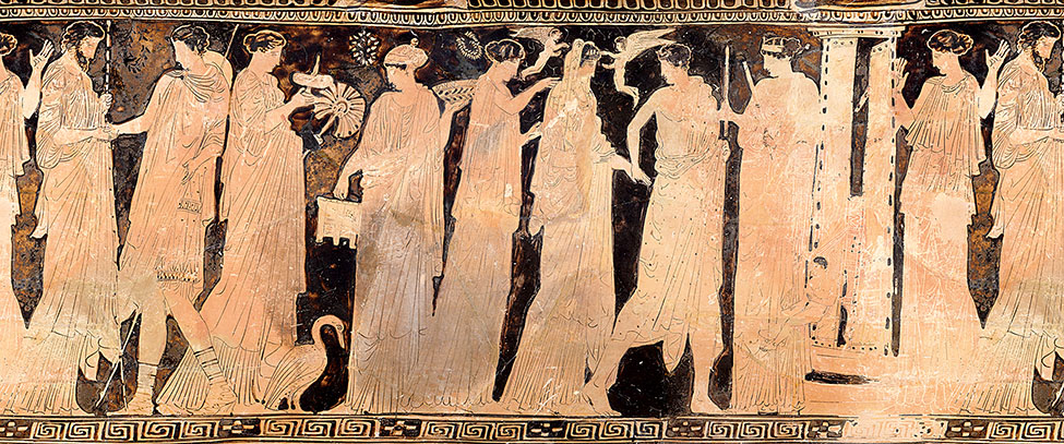 Fig. 5. Wedding procession on Attic red-figure loutrophoros. Boston, Museum of Fine Arts, inv. no. 03.802; Frances Bartlett Donation of 1900 (photograph © 2019 Museum of Fine Arts, Boston).