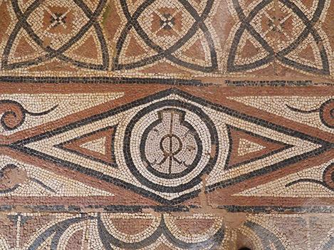 Fig. 20. Detail of mosaic with a monogram in a Roman villa at Cuevas de Soria (courtesy SoriamuséuM).