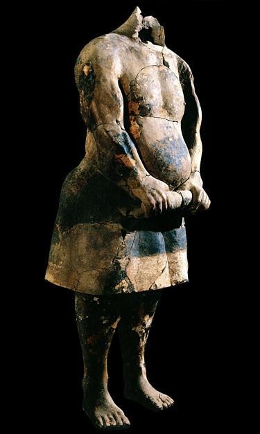 Fig. 5. Qin terracotta strongman, ht. 171 cm, ca. 221–206 B.C.E. Lintong, Museum of Terracotta Warriors, inv. no. DM: 005 (Xia Juxian and Gao Yuan; courtesy High Museum of Art).