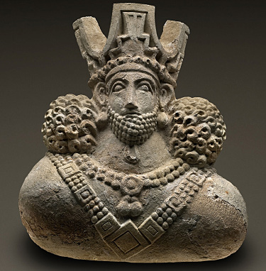 Fig. 5. Sasanian-style stucco architectural relief depicting a king, ht. 52 cm, seventh–eighth centuries C.E., from Iraq, Kish. Chicago, the Field Museum of Natural History, inv. no. 236400 (© The Field Museum of Natural History).