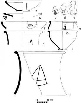 Examples of Late Bronze Age Anatolian prefiring pot marks.