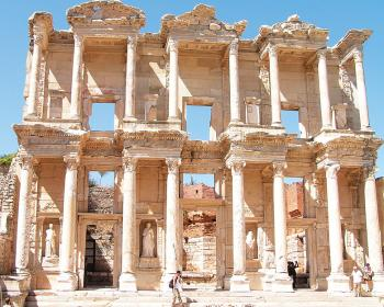 The reconstructed Library at Celsus.