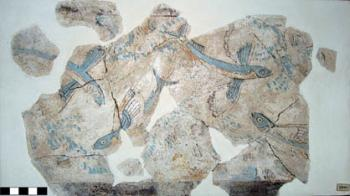 Flying fish from a fresco at Phylakopi on Melos.