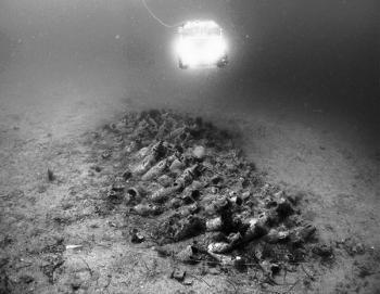 Joni wreck site during ROV video recording.
