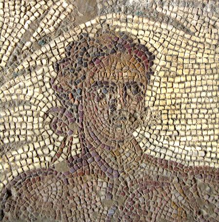 Fig. 1. Eutychia mosaic, detail of athlete (N. Anastasatou and B. Robinson; courtesy American School of Classical Studies, Corinth Excavations) (= fig. 6 in published article).