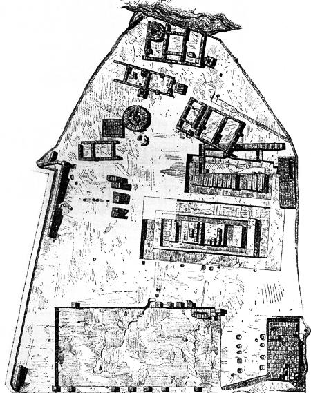 Fig. 7. Plan of the Sanctuary of the Chthonic Divinities (Marconi 1933, fig. 5).