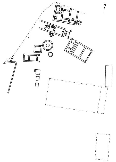 Fig. 13. Building development at the Sanctuary of the Chthonic Divinities during the fourth century B.C.E. (Zoppi 2001, fig. 116).