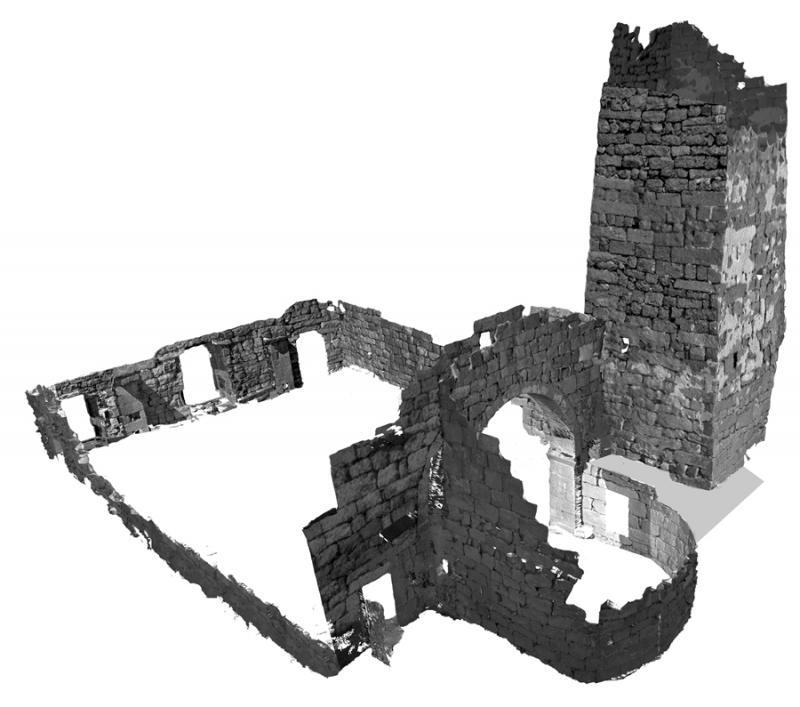 Fig. 6. RGB point clouds of the Church of Saints Sergius and Bacchus at Umm al-Surab (courtesy Umm al-Surab Project).