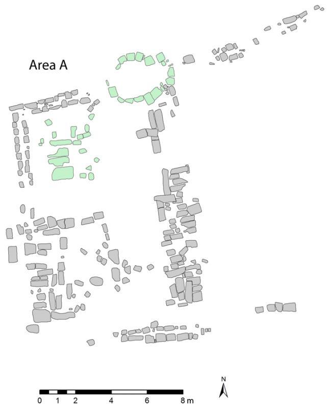 Fig. 25. Plan of Area A at Jarash (courtesy Late Antique Jarash Project).