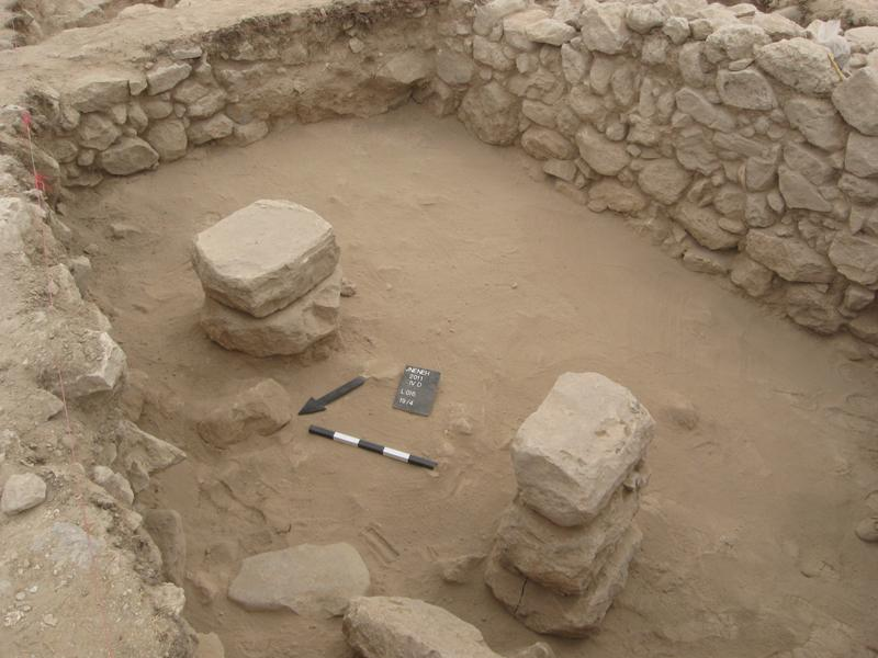 Fig. 28. The Pillared Building (Building 4), Area IV at Jneneh (K. Douglas).