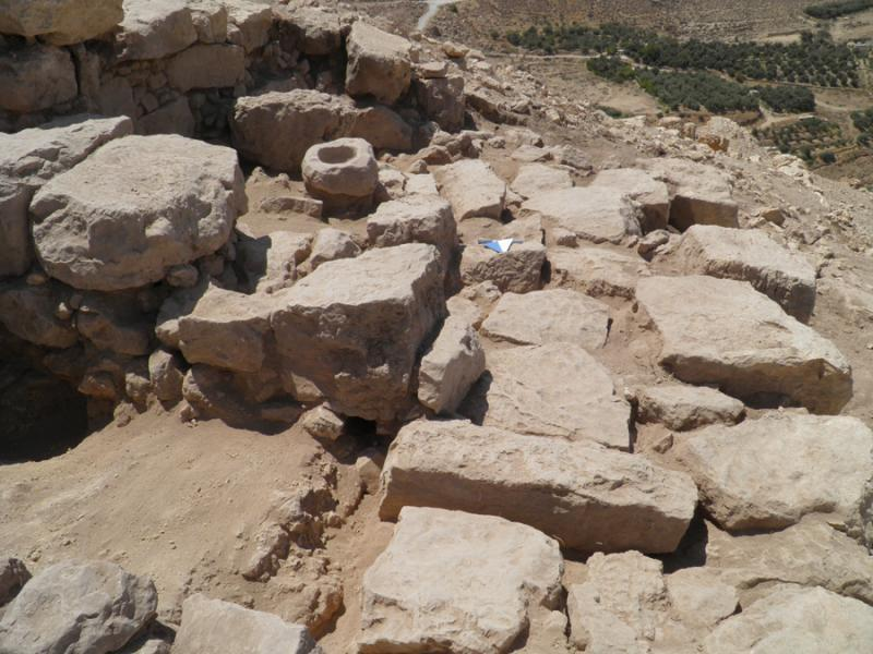Fig. 45. Area A at Tell al-Mashhad after excavation, view from northwest (F. Benedettucci).