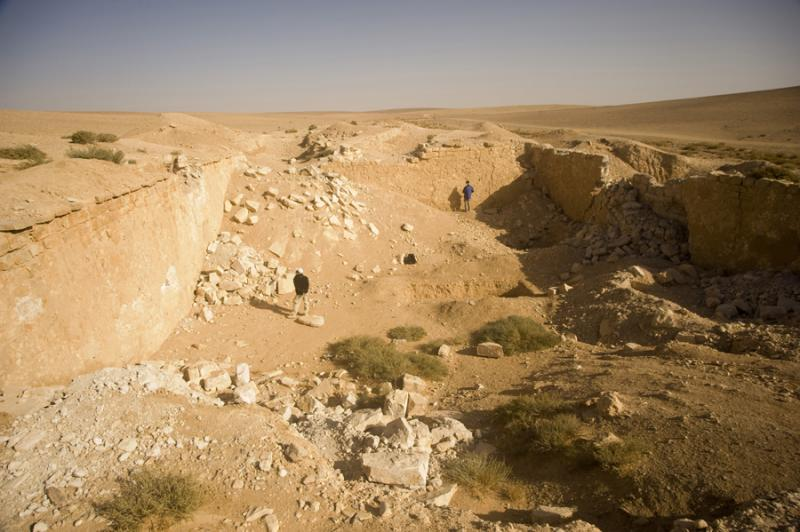 Fig. 46. Qasr Mushash survey, showing large birkeh located north of Qasr Mushash (K. Bartl).