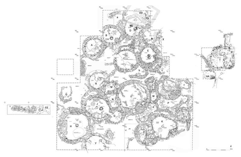 Fig. 64. Site plan of Shkarat Msaied, 2010 (drawing by M. Kinzel).