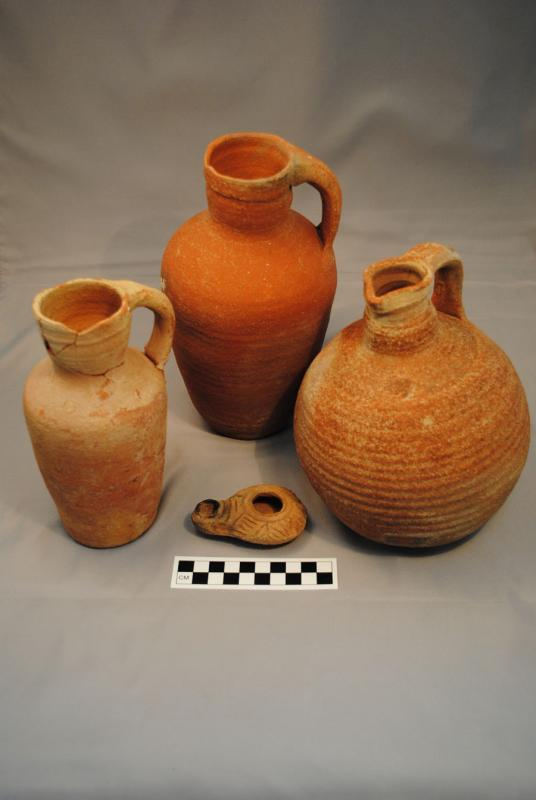 Fig. 78. Pottery assemblage from the Late Roman <i>castellum</i> at 'Ayn Gharandal (courtesy 'Ayn Gharandal Archaeological Project).