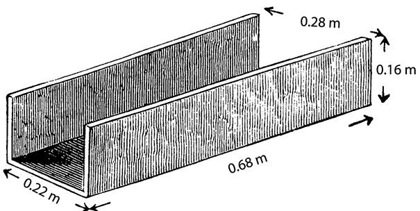 Fig. 6. Terracotta drainage channel found in Room X, a light well (after Schliemann 1976, fig. 118).