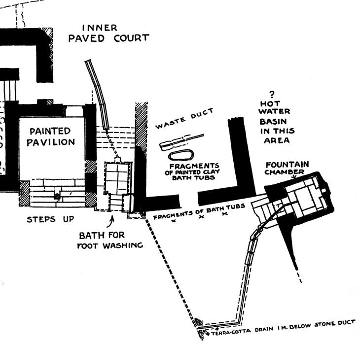Fig. 8. Portion of Caravanserai area at Knossos (modified from Evans 1928, fig. 48).