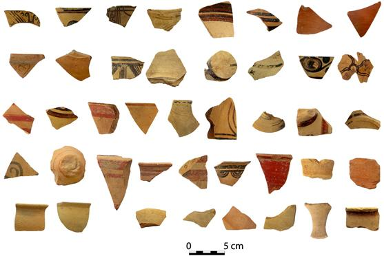 Fig. 10. Pottery from the deposits southwest of Wall 4, to the south of the Peisistrateian Telesterion.