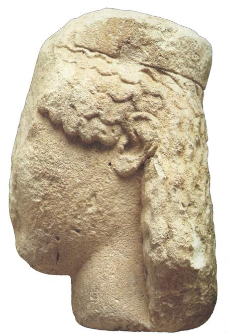 Fig. 34. Female head, probably the cult statue of Hera from Temple E1 at Selinous. Palermo, Museo Archeologico Regionale, inv. no. 3889 (Pugliese Carratelli 1985, fig. 165) (= fig. 15 in published article).