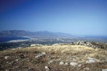 The diolkos as Strabo saw it from Acrocorinth.