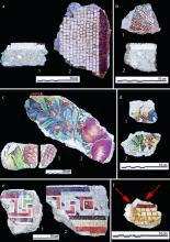Mosaic fragments from Tel Dor.
