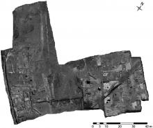 Orthorectified photomosaic of the Gabii Project 2009–2011 excavation site.