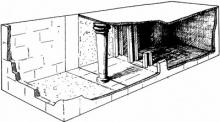 Reconstruction of a Minoan hall.