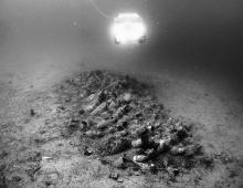 Joni wreck site during ROV video recording.